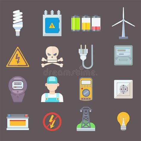 Conjunto De La Energía Y Del Icono Del Recurso Ilustración