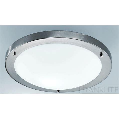 cf1220 flush circular ceiling light satin nickel white