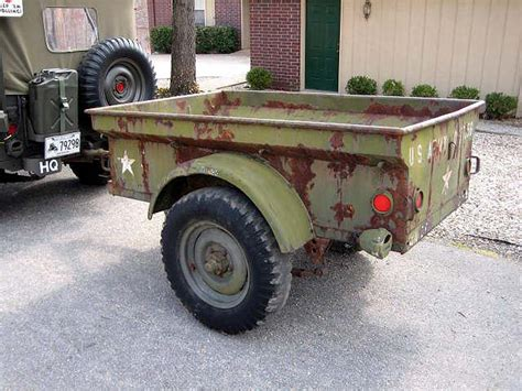 military jeep trailer 1951 m100 1 4 ton trailer sold classic military vehicles