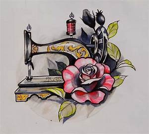 Vintage sewing machine drawing > hand tattoo idea ...