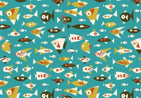 Retro Fish Seamless Vector Pattern - Download Free Vectors ...