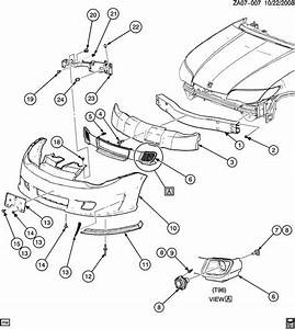 Bracket Bumper  Fascia Mounting  Genuine Gm Part 22722097