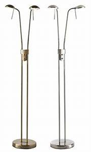 endon quothammersmithquot 2 head twin floor standing reading With floor lamp with 2 heads