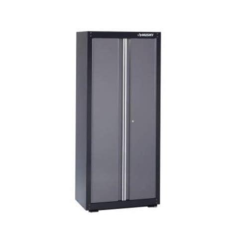 husky storage cabinets home depot husky 32 in w x 72 in h x 18 in d floor steel cabinet