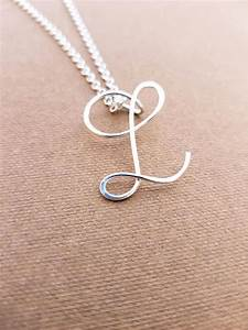 sterling silver l initial necklace letter l necklace letter With letter l necklace silver