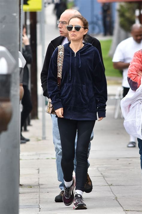 Natalie Portman Gets Breakfast With Her Parents Los