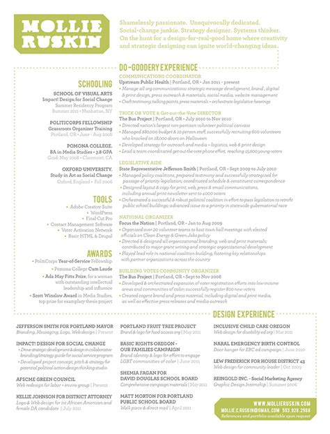curriculum vitae for a graphic designer cv parade