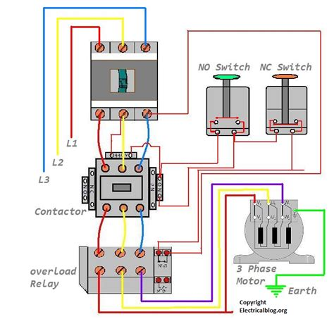 30a Circuit Breaker Wiring Diagram by Dol Starter Wiring Diagram For 3 Phase Motor Controlling