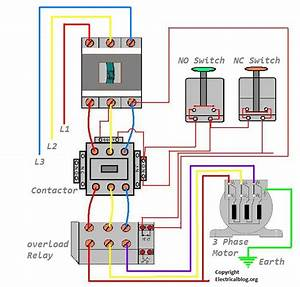 Dol Starter Wiring Diagram For 3 Phase Motor Controlling
