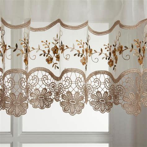 vintage embroidered gold kitchen curtain valance walmart