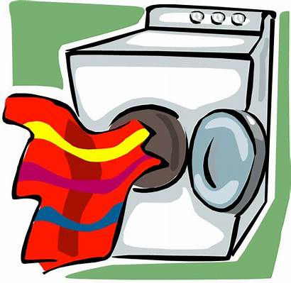 Dryer Laundry Clipart Clothes Drying Clip Dry