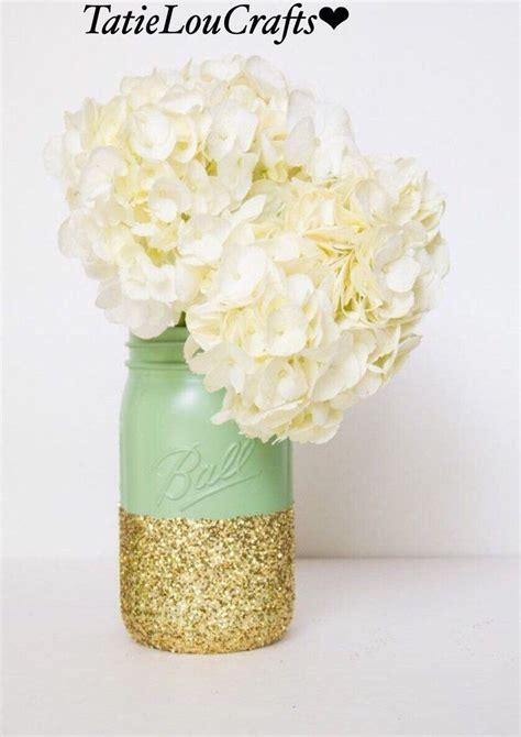 Quart Size Mason Jar Wedding Centerpiece Wedding Decor