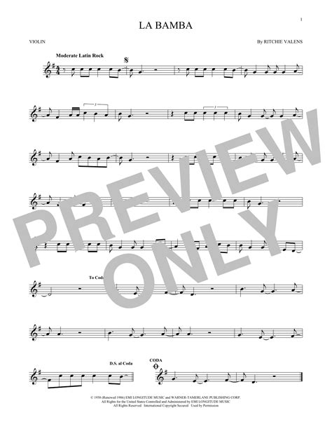 La Bamba Trombone Notes
