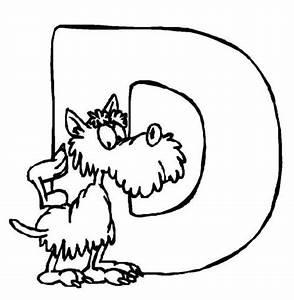 Kostenlose Malvorlage Buchstaben Lernen Tierschrift D Zum