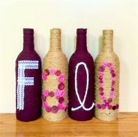 decorating wine bottles Fall Decorated Wine Bottles Fall decor fall by ...