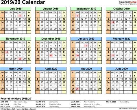split year calendars  july  june word templates