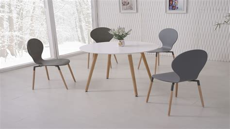 white dining table chairs white dining table and 4 grey chairs homegenies