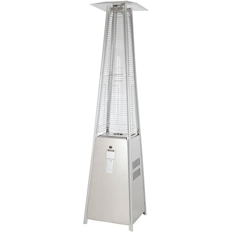 pyramid patio heater homebase pyramid heater stainless steel 277401 pits