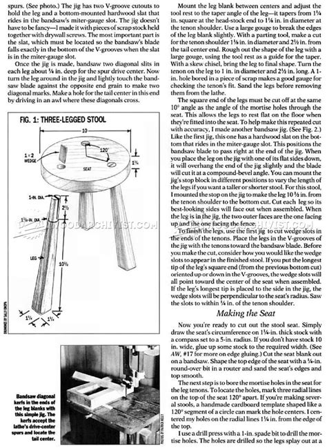 legged stool plans woodarchivist
