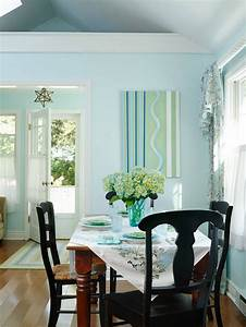small lake cottage with turquoise interiors home bunch With interiors of small dining room
