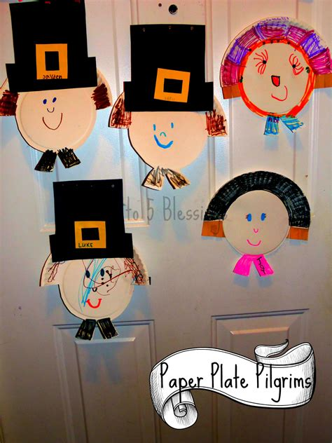 paper plate pilgrim craft learn link  linky mama   blessings
