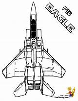 Coloring Airplane Pages Military Air Eagle Yescoloring Force Jet Fighter Airplanes Jets F15 Mighty Print Space Halo Army Aircraft Tomcat sketch template