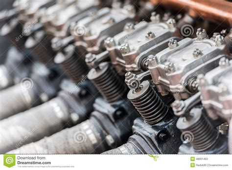 Old Car Internal Combustion Engine Stock Photo