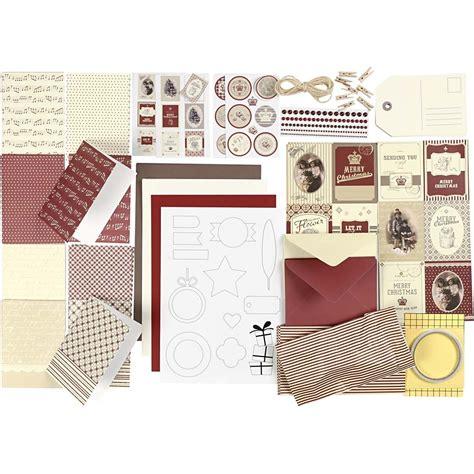 weihnachts bastel material karten set copenhagen papier scapbooking bastelmaterial selbermachen dekowebshop