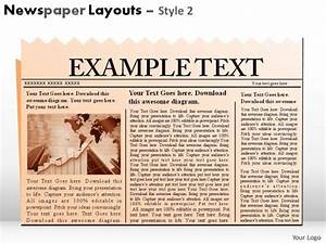 newspaper layouts style 2 powerpoint presentation slides With newspaper header template