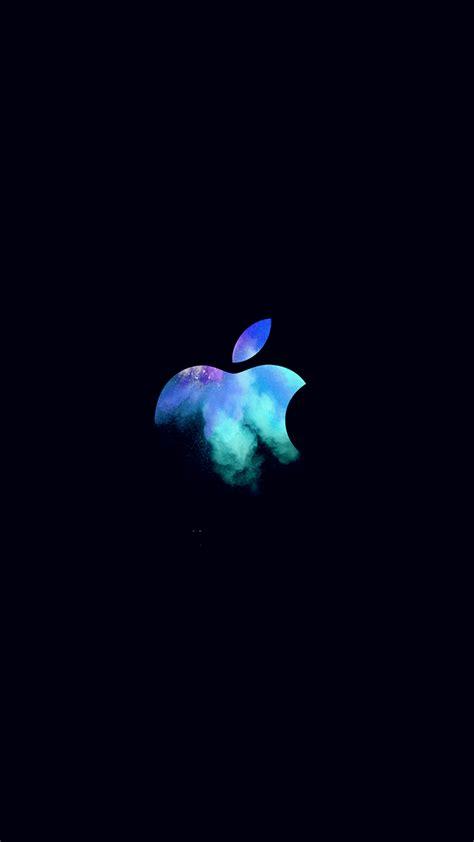 au apple mac event logo dark illustration art blue wallpaper
