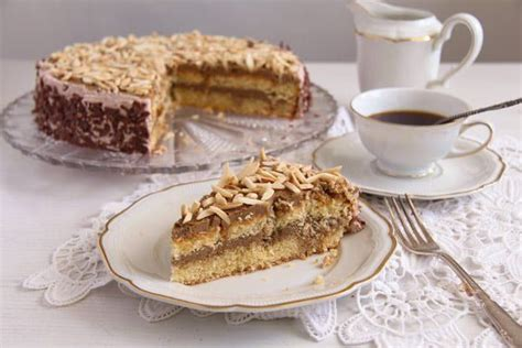 Whisk ingredients together until well blended. Almond Cake with Coffee Caramel Buttercream - Polish Tort ...