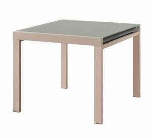 Table Carre Extensible : universe table repas extensible carree taupe design ~ Teatrodelosmanantiales.com Idées de Décoration