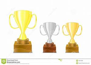 Gold And Silver Trophy Cups Icon Royalty Free Stock Photos ...
