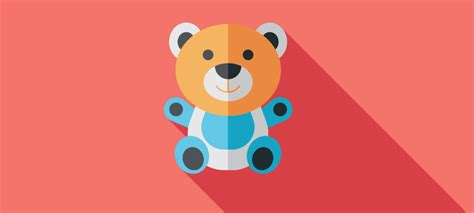 Cute Teddy Bear Logos And Icons