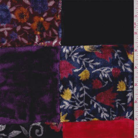 patchwork velvet  fashion fabrics