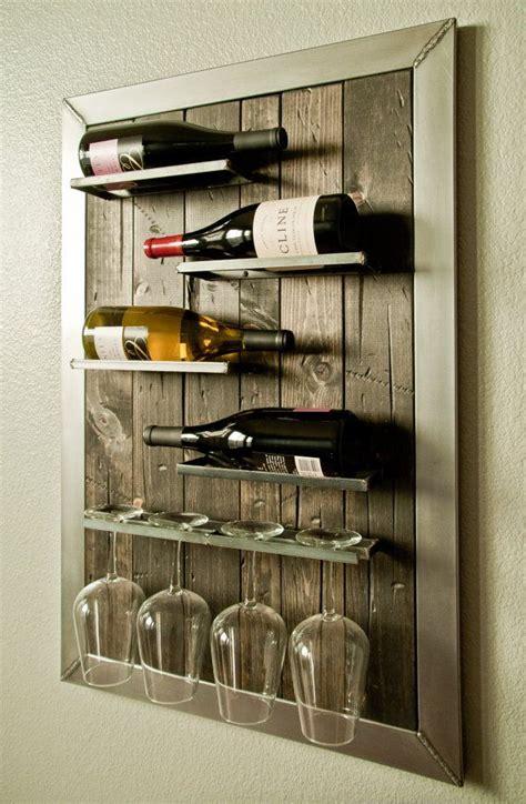 wall mounted wine rack  glass holder