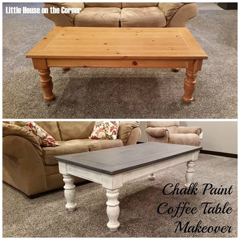 chalk paint coffee table makeover furniture