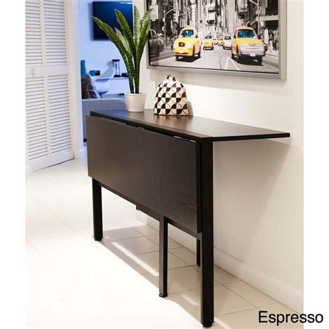 tokyo drop leaf rectangle dining table overstockcom