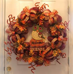 diy mesh thanksgiving wreath quot welcome friends quot the wreath depot