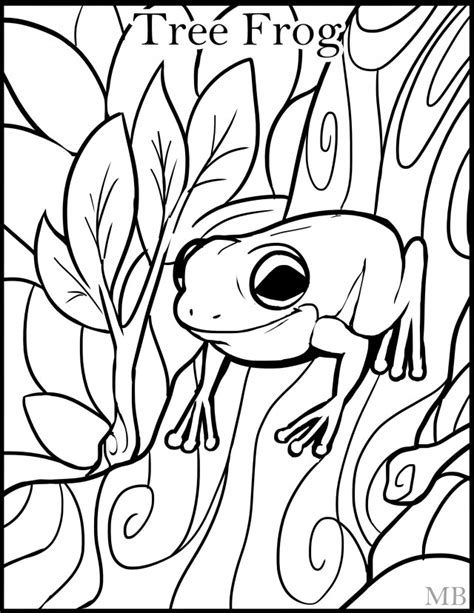 tree frog coloring pages clipart panda  clipart images