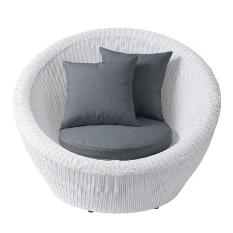 fauteuil de jardin en r 233 sine tress 233 e blanc mykonos
