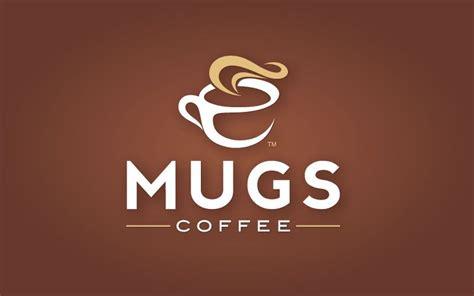 Brandmark is combined with a flat nib connecting script font. MUGS Coffee Logo & Website   Kopi, Kedai kopi, Dekorasi