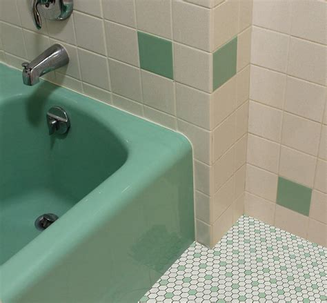 vintage green bathroom tile ideas  pictures