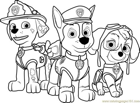 Paw Patrol Coloring Page Free PAW Patrol Coloring Pages