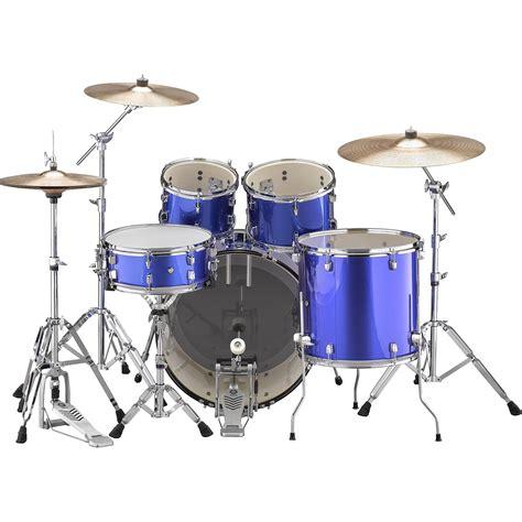 yamaha rydeen  fine blue bundle drum kit