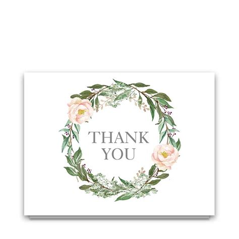Floral Thank You Card Archives  Noted Occasions Unique