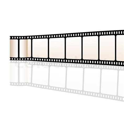 illustration  vector film reel  white background