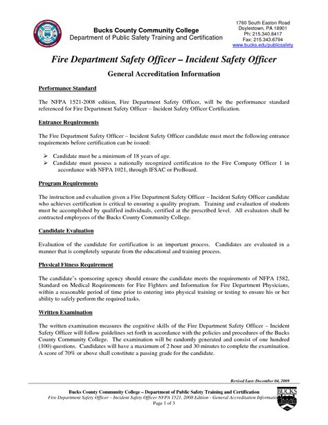 resume objective for safety officer safety manager resume