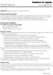 technical writer resumes exles resume technical writer research analyst pcs semiconductors