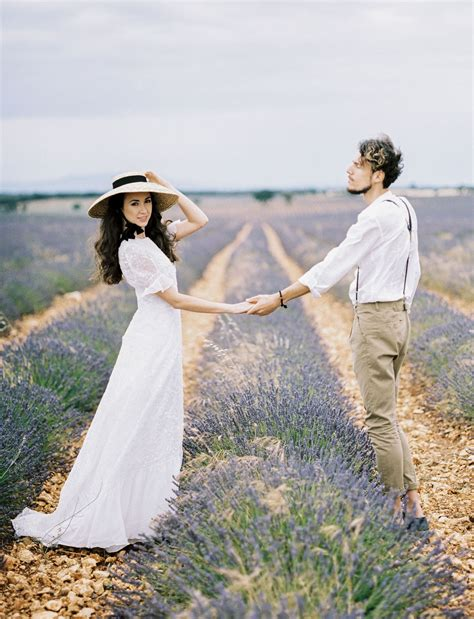 Simple Love Romance In A Spanish Lavender Field Green
